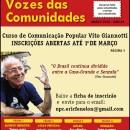 Abertas as inscrições para o Curso Vito Giannotti de de Comunicação Popular
