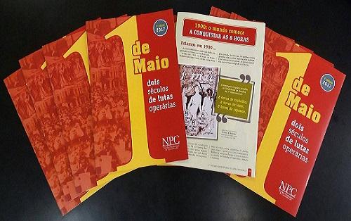 NPC lança cartilha 1º de Maio neste sábado