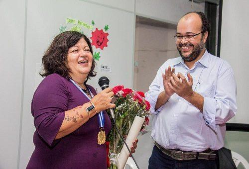 Claudia Santiago Giannotti é homenageada no Rio com a medalha Chiquinha Gonzaga
