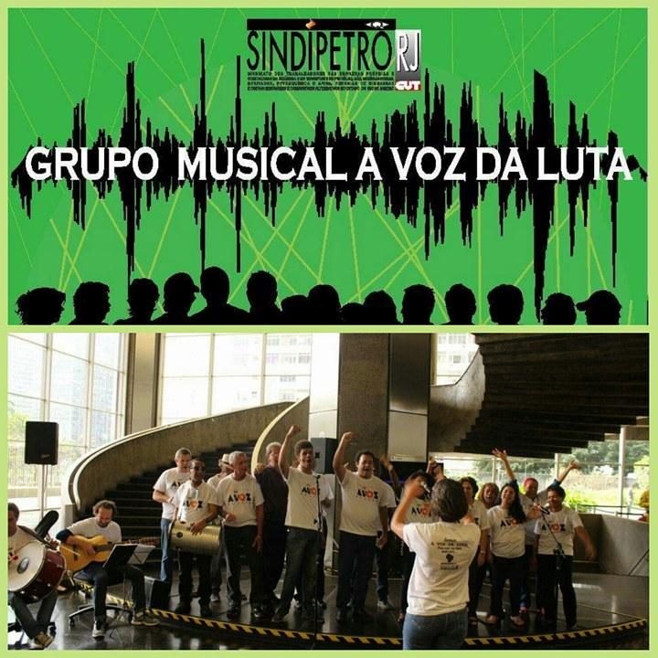 A VOZ DA LUTA – Grupo musical do Sindipetro-RJ abre o 1º Festival da Comunicação Sindical e Popular