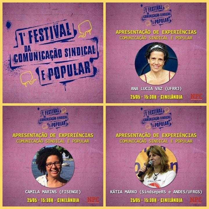 Jornalistas sindicais falam sobre suas experiências no 1º Festival da Comunicação Sindical e Popular