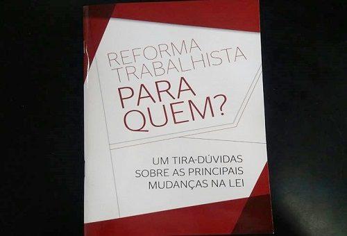 Fisenge lança cartilha sobre a Reforma Trabalhista