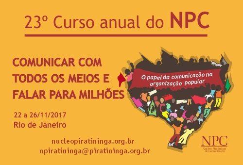 Vem aí o 23º Curso Anual do Núcleo Piratininga de Comunicação!
