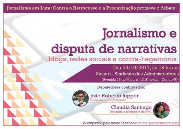 jornalismo e disputa de narrativas