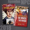 LIVRO-AGENDA NPC 2018 oferece duas opções de temas